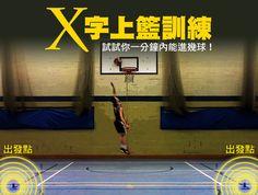 籃球筆記 - X字上籃訓練 提升左右手跑籃的速度、穩定度