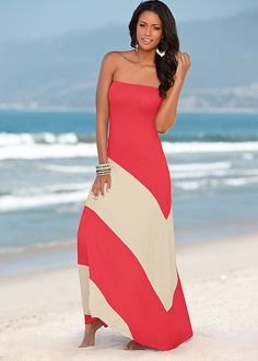 Strapless maxi in the VENUS Line of Dresses for Women