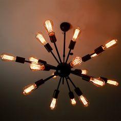 18 heads Edison bulb Steel Ceiling Lamp edison von LightwithShade