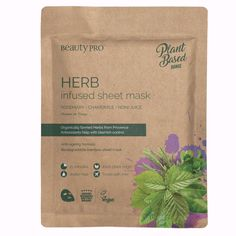 HERB Infused Sheet Face Mask #howtotightenlooseskinonface Pamper Evening, Noni Juice, Minimize Pores, Loose Skin, Uneven Skin Tone, Sheet Mask, Biodegradable Products, Anti Aging