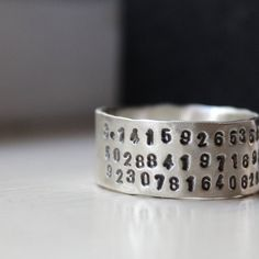 Hey, I found this really awesome Etsy listing at http://www.etsy.com/listing/101291943/unique-sterling-pi-ring-for-geeks-and