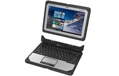 "CF-20 Panasonic Toughbook Configurable is a fully rugged, lightweight laptop that easily detaches to become a 10.1"" tablet. And it only takes one hand. The detachable laptop features a durable MIL-STD-810G and IP65 design along with a magnesium alloy chassis"