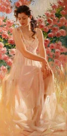 Pinturas de Mulheres por Richard S. Johnson | Decoupage.net.br