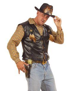 Cowboy Weste Rocker Weste mit Fransen schwarz, aus unserer Kategorie Cowboy & Indianer Kostüme. Cowboys lieben Westen als Ergänzung ihres Outfits. Denn Cowboy-Westen sind nicht nur kleidsam, sondern schützen auch gegen Wind und Wetter - und das konnte im Wilden Westen manchmal rau sein. So wie eigentlich alles. Ein sensationelles Accessoire für Fasching und Wilder Westen Mottopartys. #Karnevalskostüm