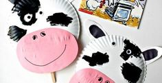 Create this Easy Paper Plate Cow Mask inspired by Click, Clack, Moo CowsThat Type book. A fun cow mask kids can make from paper plate! Paper Plate Masks, Paper Plate Crafts, Paper Plates, Cow Mask, K Crafts, Jungle Animals, Eid Mubarak, Animal Crafts, Mask For Kids