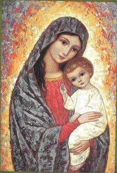 Ave Maria Why May is the month of our Blessed Mother and how to venerate her Blessed Mother Mary, Divine Mother, Blessed Virgin Mary, Religious Pictures, Religious Icons, Religious Art, Images Of Mary, Mama Mary, Mary And Jesus