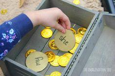 Pirate treasure sight word digging game!