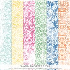 Shabby Favorites 2 {CU} - distressed damask patterns / overlays!