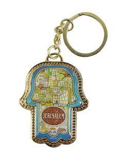 Hamsah Key chain - View of Jerusalem #rilsar