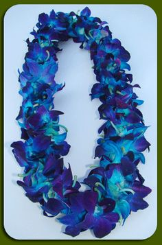Double Orchid - Fresh Flower Lei - Exotic Leis