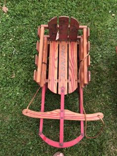 Mid 1900's Vintage Snow Sleds, Good Condition by PaintedLadyAntiques on Etsy