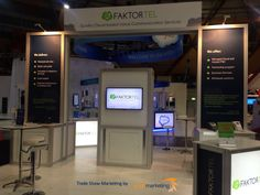 FaktorTel's funky new trade show stand created for CeBIT Australia. Tradeshow marketing and management by Blaze Marketing