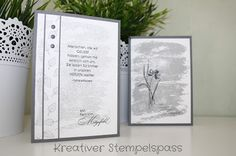 Kreativer Stempelspaß: Trauerkarten