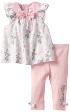 Calvin Klein Baby-girls Newborn Printed Tunic with Leggings $20.83 (51% OFF) + Free Shipping