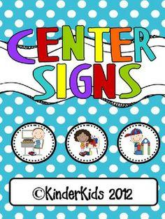 Center Signs for Kindergarten Polka Dots with Editable Stu Classroom Organization, Classroom Decor, Classroom Management, Classroom Signs, Class Management, Organizing, Classroom Helpers, Kindergarten Classroom, Future Classroom