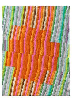 "Beautiful ""El Cubo"" (2008) quilt by Ursula König."