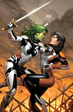 All New X-Men: Trial of Jean Grey & Guardians of the Galaxy - X-23 and Gamora by Dale Keown *