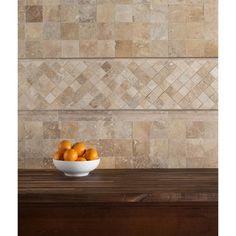 Karina Wavy Travertine Mosaic - 12in. x 12in. - 932100191 | Floor and Decor