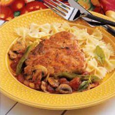 Italian Pork Chops Recipe >>> 6.25.13 OMG, major major delish. Super tender. Yes, I said tender!!! I didn't dry them out!!!!