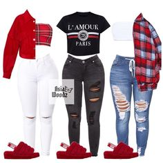 Cute Lazy Outfits, Swag Outfits For Girls, Teenage Girl Outfits, Cute Swag Outfits, Teenager Outfits, Dope Outfits, Teen Fashion Outfits, Girly Outfits, Preteen Fashion