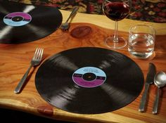Use them as placemats. | Community Post: 19 Ways To Reuse Vinyl Records
