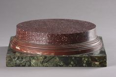 ITALIAN LARGE PORPHYRY, ROSSO ANTICO AND GREEN VERDE ANTICO STAND FOR A LIBRARY BUST OR SCULPTURE 1700 TO 1900, ITALIAN