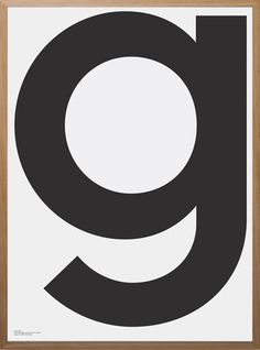 g by Playtype Art Print | Pop Motif