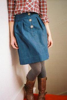 (I'm longing for autumn) | Wiksten: alison skirt in denim