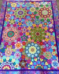 Millefiori Quilts - all hand-pieced mostly using off-cuts and scraps…