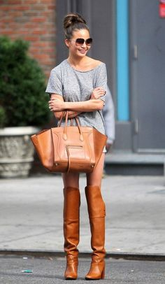 Looking for the perfect pair of women's over the knee boots? See how celebs wear this fab shoe for winter 2014, get outfit ideas, plus shop your own boots!