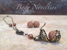 Diffuser necklace essential oils pendant Bali by Bodynovelties ✿ ☺