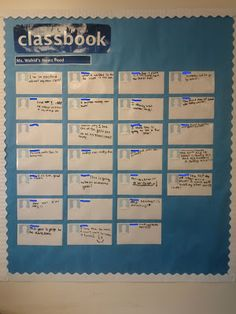 Upper Grades Are Awesome: First Day of School! Classbook status update bulletin board