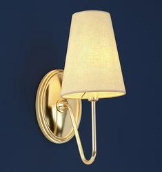 Berkshire Single Sconce with Linen Shades | Wall Lighting | Rejuvenation
