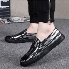 Amazon.com  Men Pump Printed Loafers Casual Fashion Lazy Shoes Round Toe  Elastic Band Slip On Plate Shoes EU Size 38-44  Clothing 3e83370ecd03