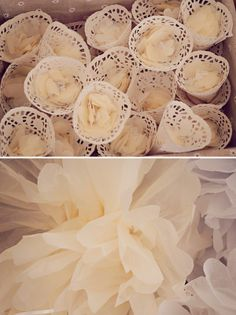 Great DIY idea for handing out confetti - A Homemade Budget Friendly Rustic Wedding ~ UK Wedding Blog