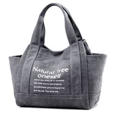 Sale 28% (25.73$) - Women Canvas Tote Handbags Casual Printing Shoulder Bags Capacity Shopping Bags