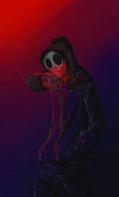 I am covered in blood ? by Dogrom on DeviantArt Scary Creepypasta, Creepypasta Proxy, Creepypasta Characters, Eyeless Jack, Creeped Out, Dark Drawings, Laughing Jack, Creepy Pictures, Jeff The Killer