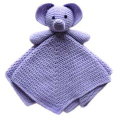 Crochet Pattern: Elephant Security Blanket -- I think my mom should make these for her craft shows