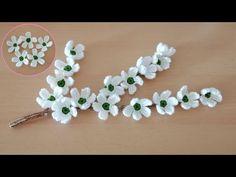 Crochet Jewelry Patterns, Crochet Flower Patterns, Crochet Flowers, White Cherry Blossom, Cherry Blossoms, Stick O, White Cherries, Flower Earrings, Crochet Projects