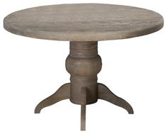 Jofran Burnt Grey 48 Inch Round Dining Table w/ Fixed Top farmhouse-dining-tables