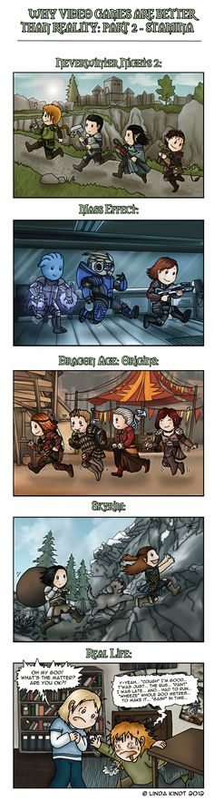 Why Video Games Are Better Than Reality: Part 2 by Isriana.deviantart.com on @DeviantArt