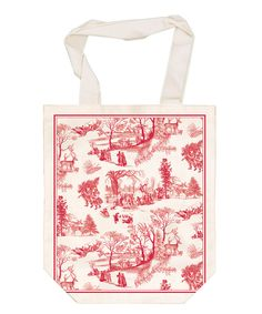 This Christmas Wonderland French Market Tote by  is perfect! #zulilyfinds