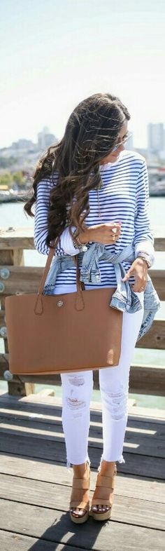 Stripes on the Pier / Fashion by the Sweetest Thing