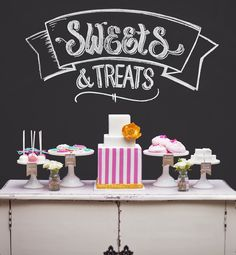 Sweets dessert table by Ashdown & Bee www.ashdownandbee.com