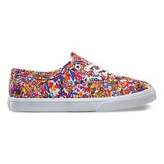 Cute pattern girl shoes by Vans