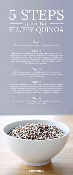 There's nothing sadder than overcooked grains when you're trying to put dinner together. Good thing we've got the scoop on how to cook perfectly fluffy quinoa every time. Check out the infographic on POPSUGAR