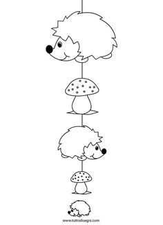 Risultati immagini per bouwkaarten kleur Fall Paper Crafts, Autumn Crafts, Autumn Art, Diy And Crafts, Crafts For Kids, Arts And Crafts, Hedgehog Craft, Cute Hedgehog, Coloring Books