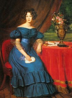 Marianne, Princess of Prussia; by anonymous, c. late 1820's. Her father was William I, King of the Netherlands, Grand Duke of Luxembourg. She was married to Albert, Prince of Prussia.