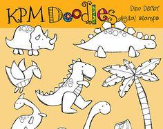 KPM digitale Collage Blatt Monster 1 1/2 von kpmdoodles auf Etsy