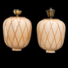 Art deco   funkis lamper med glaskupa